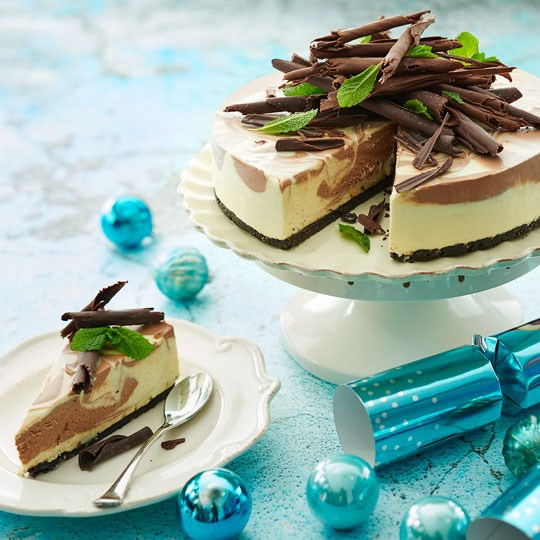 Choc Mint Marbled Cheesecake Philadelphia